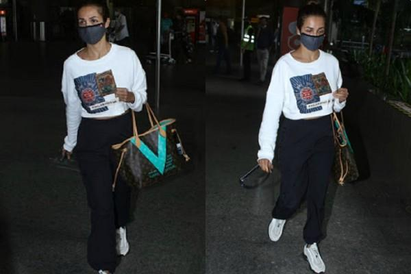 malaika arora spotted at mumbai airport