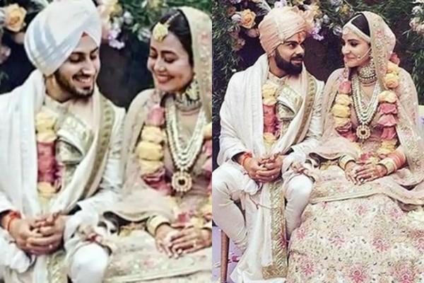 neha kakkar copy anushka sharma wedding dress