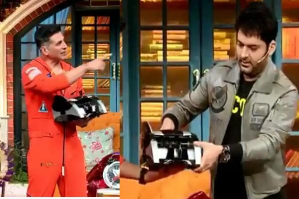 kapil sharma gifts akshay kumar a money counting machine