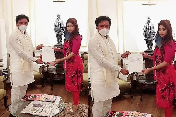 payal ghosh met union home minister g kishan reddy in anurag kashyap case
