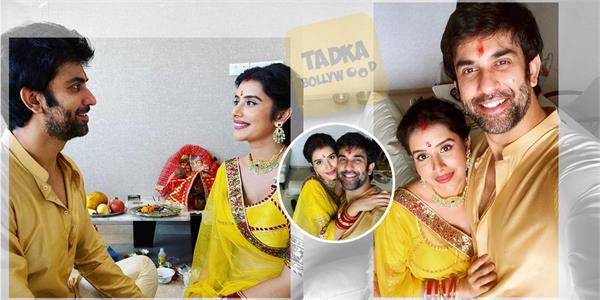 charu asopa rajeev sen wish happy navratri share pictures of kalash sthapna puja