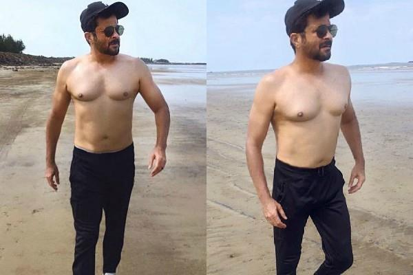 anil kapoor share shirtless photos from the beach