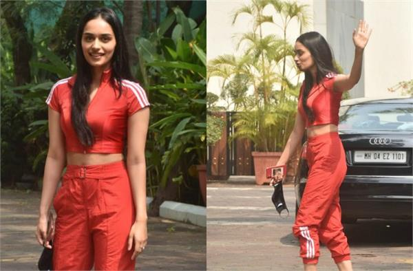 manushi chhillar looks cool as she spotted outside the yash raj films studio