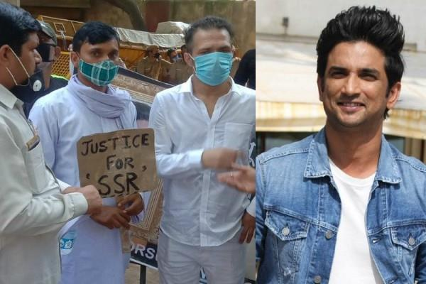 ganesh and ankit acharya started hunger strike in delhi for sushant justice