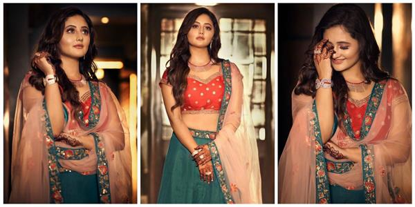 rashmi desai shares her lehenga look photos