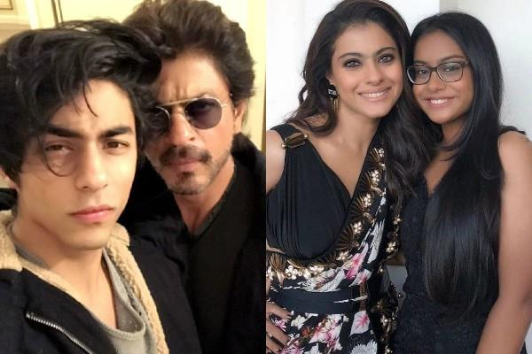 shahrukh khan and kajol respond about nyasa aryan question