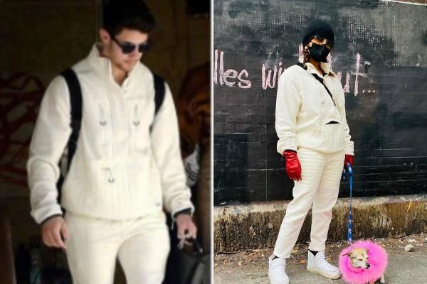 priyanka chopra looks stylish in husband nick jonas clothes