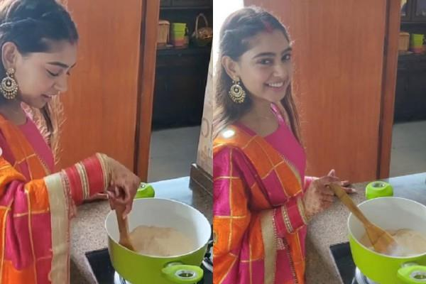 niti taylor shared pehli rasoi picture and video