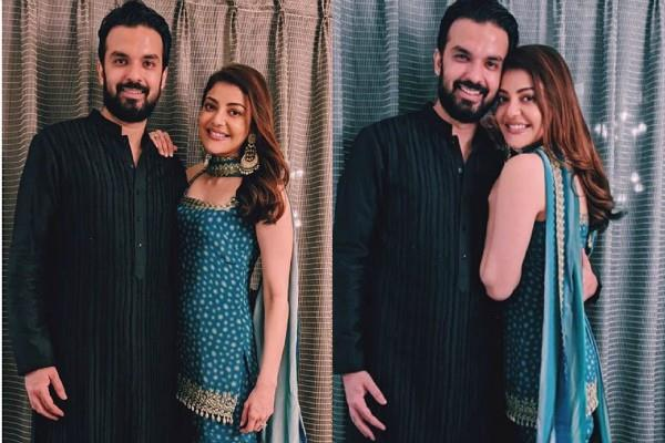 kajal aggarwal shares pitures with fiance gautam kitchlu
