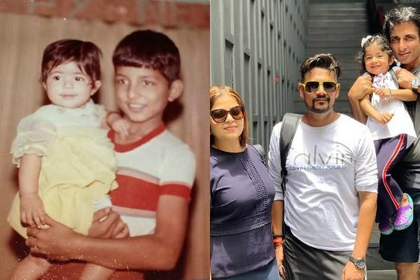 sonu sood wishes birthday to sister with cute childhood photos