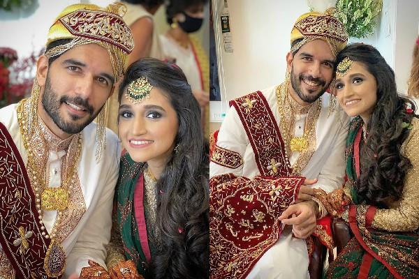 taher shabbir married secretly with girlfriend akshita gandhi pics viral