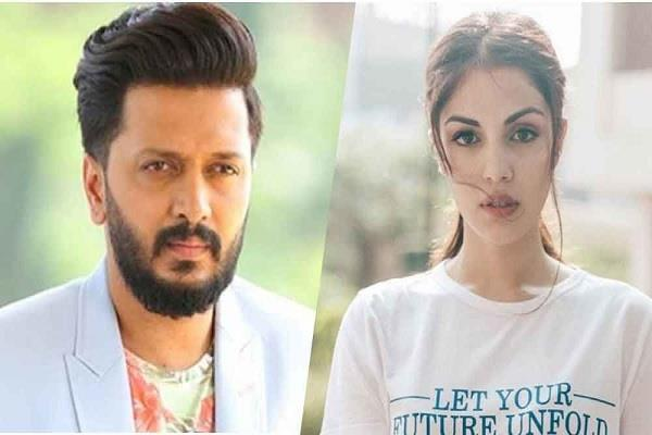 riteish deshmukh support rhea and said nothing is more powerful than truth