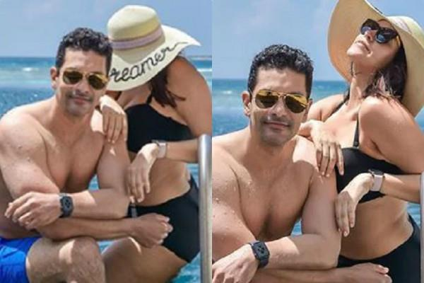 neha dhupia shares photo with husband angad bedi from maldives vacation