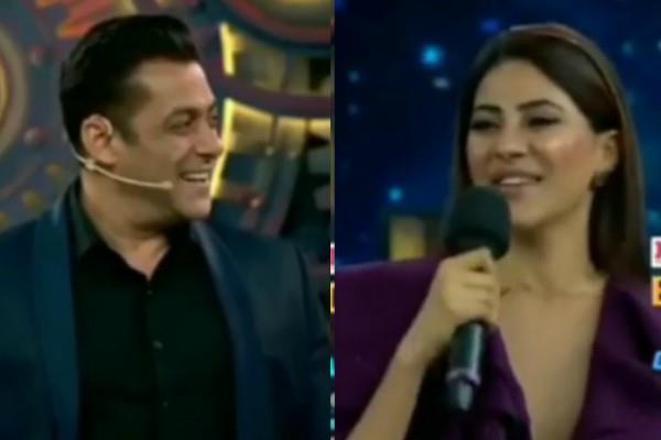 bigg boss 14 premiere nikki tamboli seen flirting with salman khan