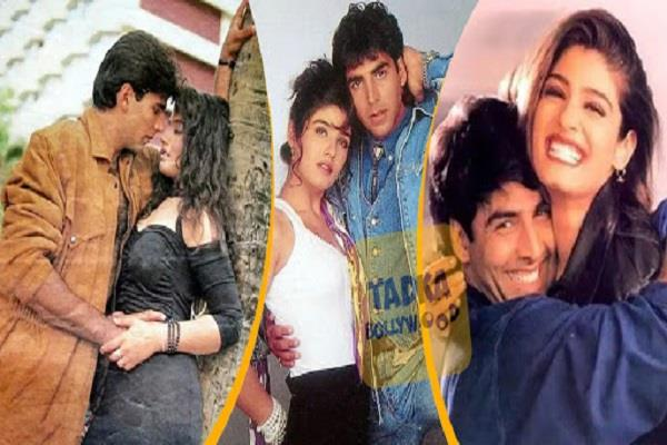 raveena tandon and akshay kumar hot old photoshoots