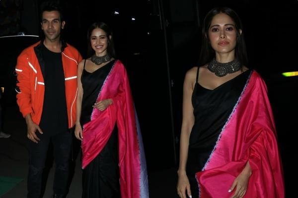 nushrat bharucha looks beautiful as she spotted with co star rajkummar rao