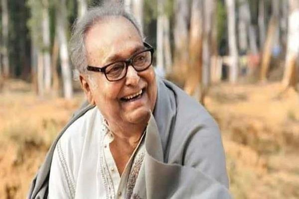 soumitra chatterjee daughter poulomi upset after hospital pic viral
