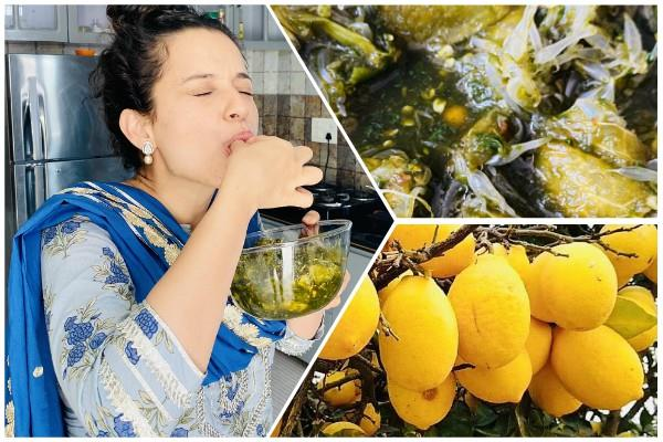kangana share her photo eating marmalade