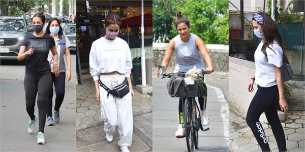disha patani  malaika arora and seema khan spotted in mumbai
