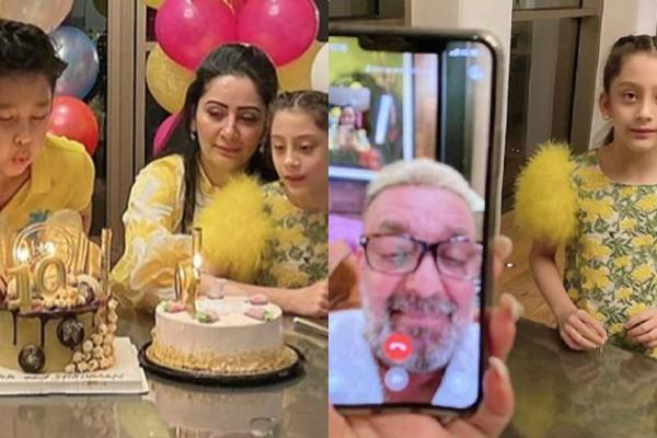 sanjay dutt wife maanayata dutt celebrates kids birthday in dubai