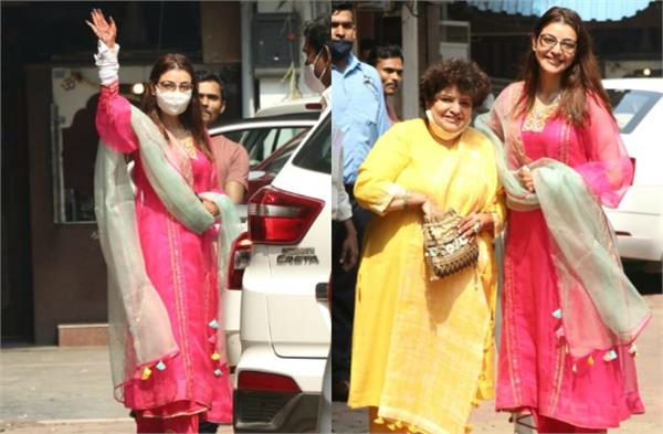 kajal aggarwal spotted with her mom before few hours of her wedding