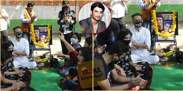 sushant singh rajput fans protest near jantar mantar