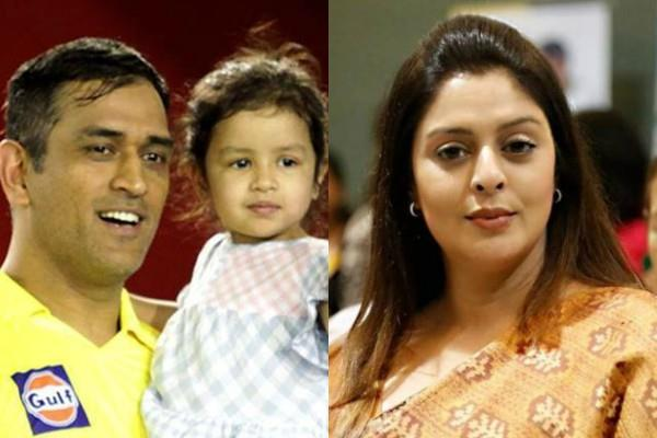 nagma furious when dhoni s 5 year old girl received rape threat