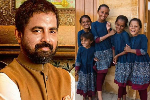 sabyasachi designs uniforms for jaisalmer school girls