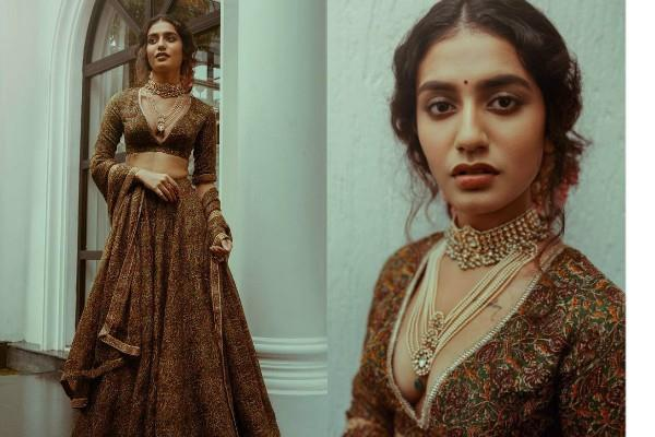 priya prakash varrier looked stunning in lehenga choli