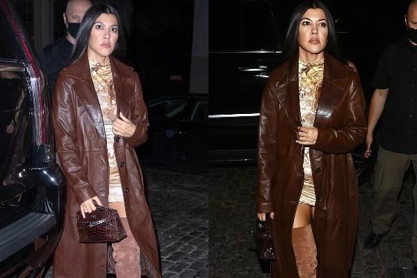 मिनी ड्रेस, थाई हाई बूट्स और ओवर कोट में कर्टनी का स्टाइलिश अंदाज, वेस्टर्न लुक में यूं दिए Fashion goals