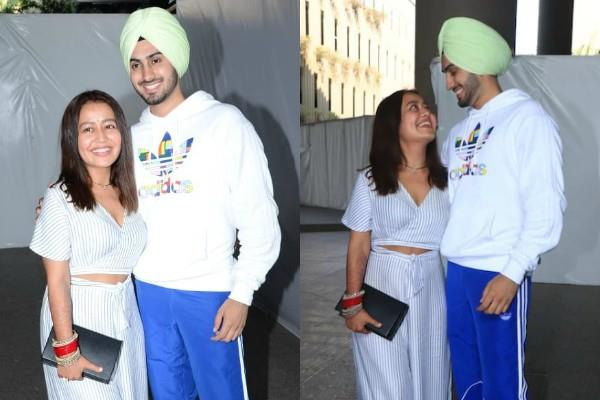 newly married neha kakkar rohanpreet singh return mumbai