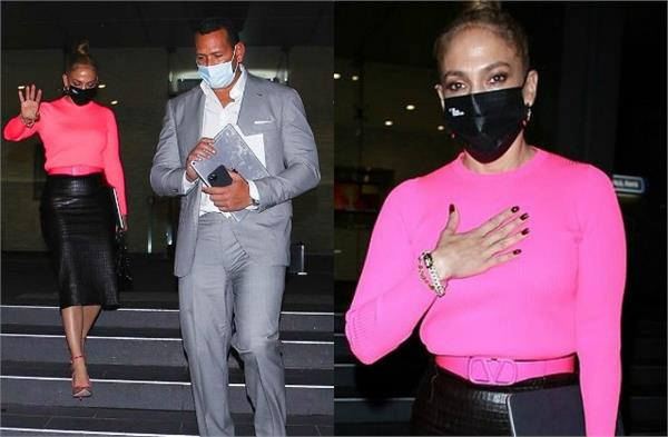 jennifer lopez dinner date with fiance alex rodriguez