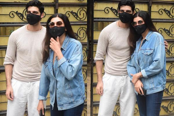 sushmita sen spotted with boyfriend rohman shawl at bandra