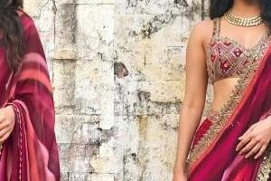 kiara advani looks stunning in mehron saree