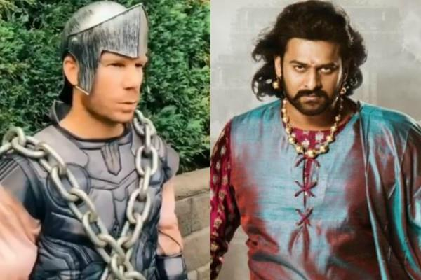 australian cricketer david warner video viral to wishing prabhas happy birthday