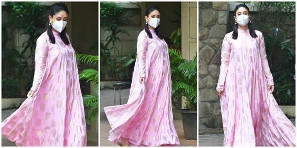 kareena kapoor looked to cover baby bump in anarkali dress