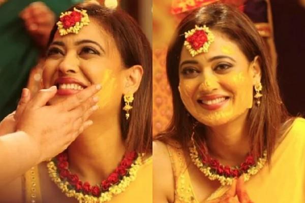 shweta tiwari haldi ceremony pics viral
