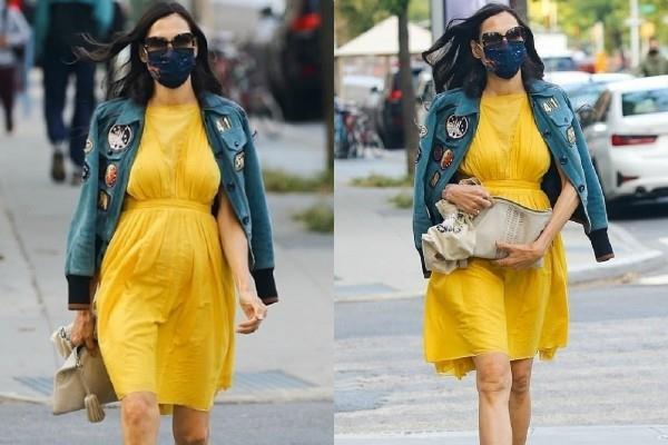 न्यू यॉर्क की सड़कों पर स्पॉट हुई Famke Janssen, येलो मिनी ड्रेस में दिखा हॉट अंदाज
