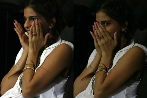 suhana khan expressions rocked during ipl match photos viral