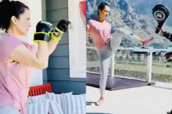 kangana ranaut starts action training for upcoming films tejas and dhakaad