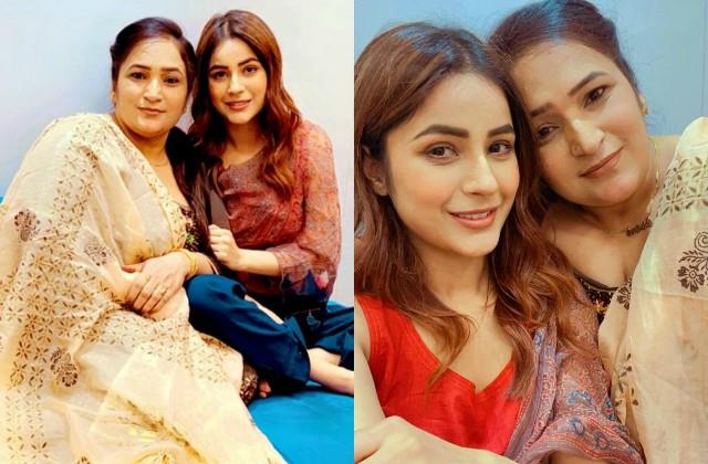 shehnaz gill met her mother after reaching chandigarh