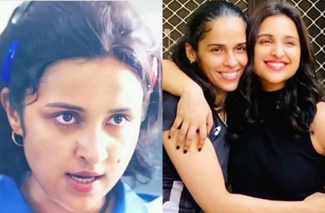 saina nehwal share first look of parineeti chopra from her biopic