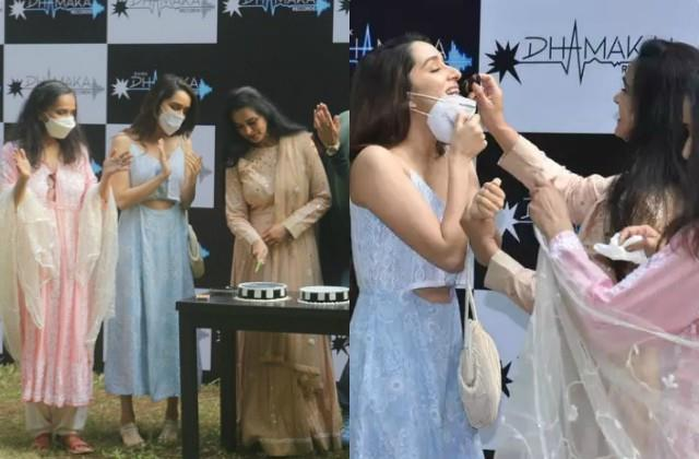 shraddha kapoor spotted at massi padmini kolhapure birthday party with family