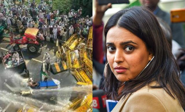 swara bhaskar reaction on police strictness towards the farmers