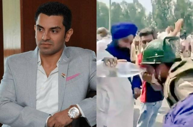 tehseen poonawalla praise farmer who gave water to jawan during protest