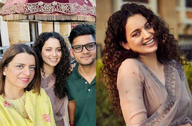 kangana ranaut enjoy with family at brother aksht destination wedding