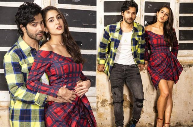 varun dhawan and sara get photoshoot for film  coolie no 1  promotion