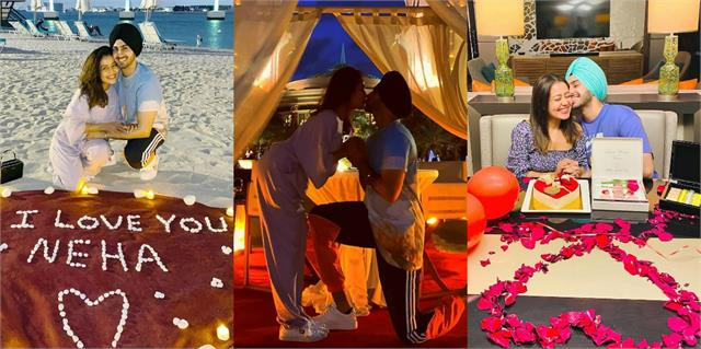 neha kakkar shares her romantic photos with rohanpreet from honeymoon