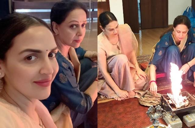 mother hema malini organised havan at home on daughter esha deol birthday