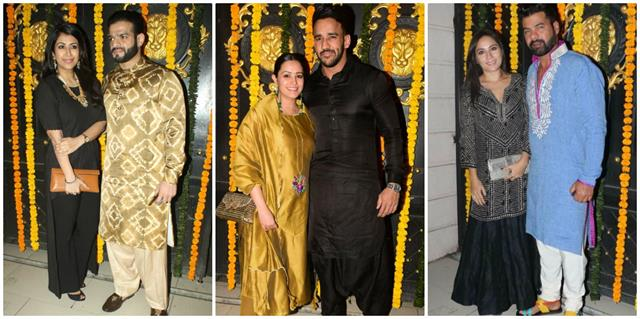 karan patel anita and others arrived at ekta kapoor diwali party 2020